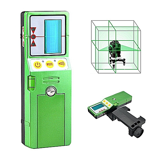FD-9G (green) Outdoor 12 Line 3D Laser Level Detector Receiver W/Clamp Red Green Line Vertical