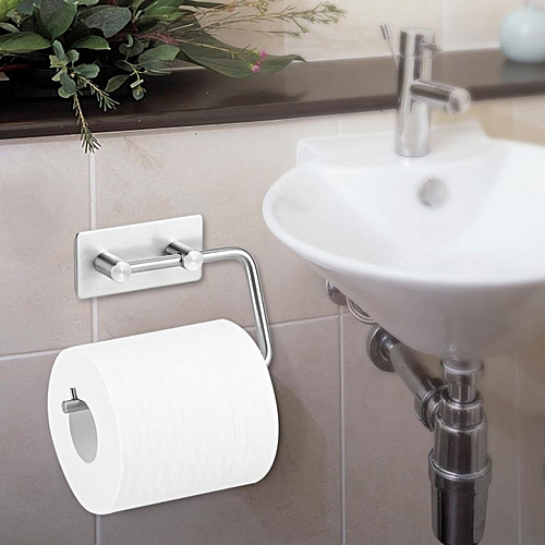 Wall-Mounted Stainless Steel Roll Paper Holder Tissue Towel Rack For Bathroom Toilet