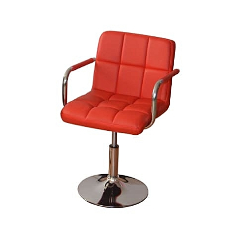 Revolvable And Adjustable Leather Bar Stool With Arm