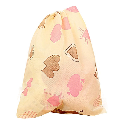 Fashion Printing Shoes Bag Portable Travel Storage Pouch Drawstring Dustproof