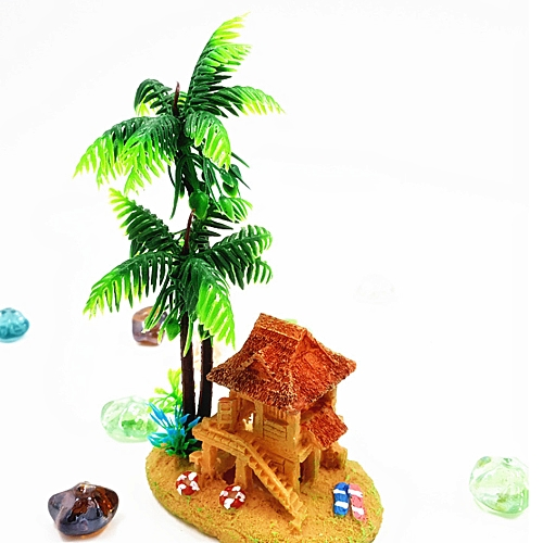 Hiamok_Aquarium Aquarium Decorative Oxygen Bubble Mini Creative Products Yurts Coconut