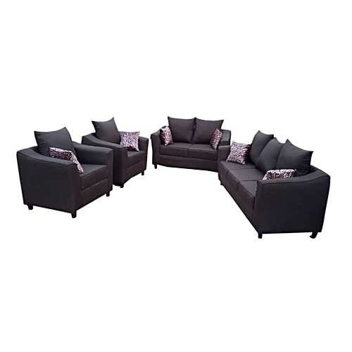Complete 7Seaters Sofa . Brown. (DELIVERY ONLY IN LAGOS)