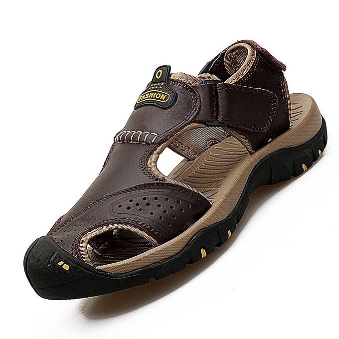 7f2c0f2fb44b EUR Size 38-45 Cool Men Sandals High Quality Handmade Leather Sandals Man s  Non-