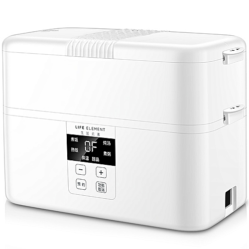 LIFE ELEMENT F19 Intelligent Appointment Timing Electric Lunch Box Large Capacity Four Ceramic Double Layer