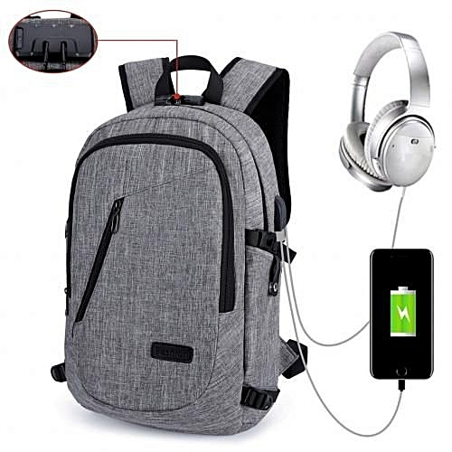 37eb2ba5fa86 ZHUOGU 2018 Anti Theft Smart Bag With Password Lock + Headset Jack With USB  Charging Port
