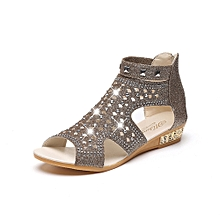 21f14f467fb0 Lodaon Spring Summer Ladies Women Wedge Sandals Fish Mouth Hollow Roma Shoes
