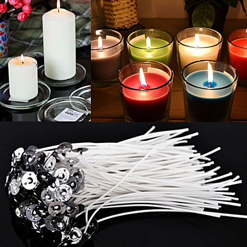 100x Candle Wicks Cotton Core Pre Waxed With Candle Making