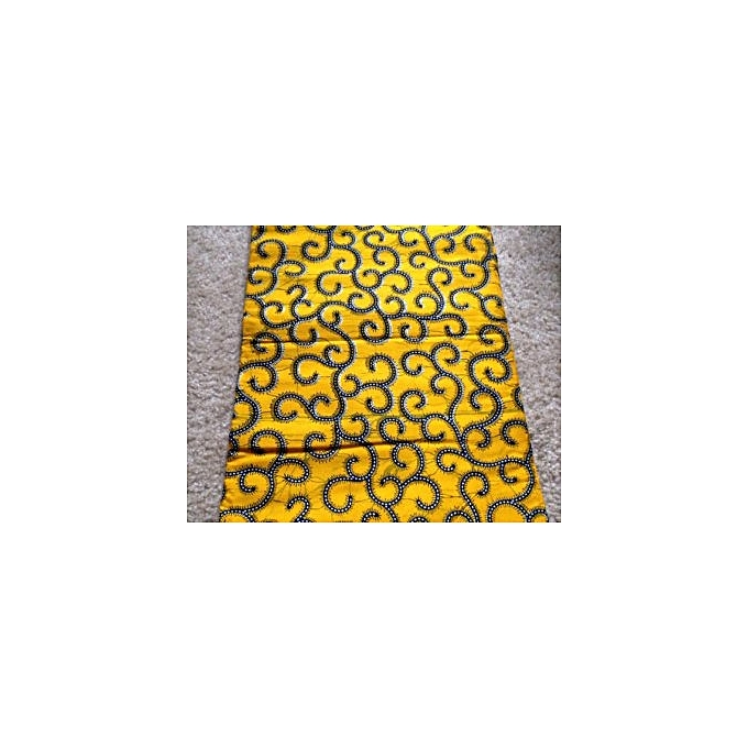 Fashion Yellow Ankara Fabric