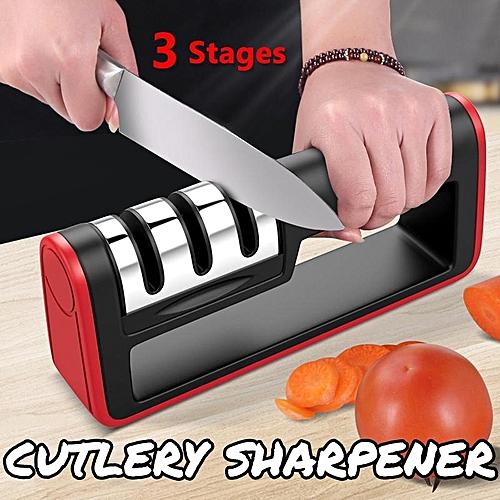 Knife Sharpener 3 Stage Sharp Diamond Ceramics For Kitchen Knives Tool