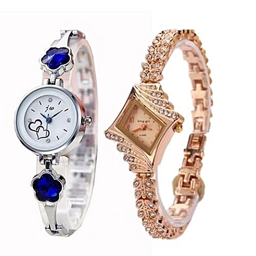 Fashion 2 In 1 Women Fashion Watches_Silver And Gold
