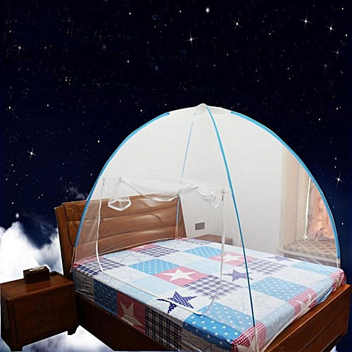 Mosquito Nets Bottomed Keeps Away Insects & Flies Indoor Outdo Blue