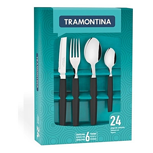 Tramontina Tableware 24pcs Cutlery Set - Black