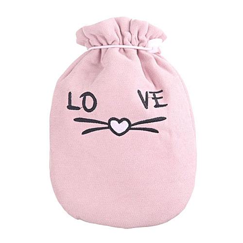Portable Cute Plush Cartoon Pattern Hot Water Bottle Girls Menstrual Hand Warmer