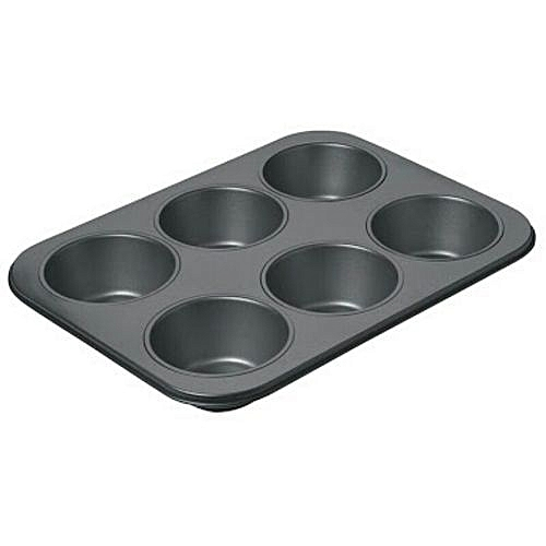 6 Cup Muffin Pan Steel Nonstick