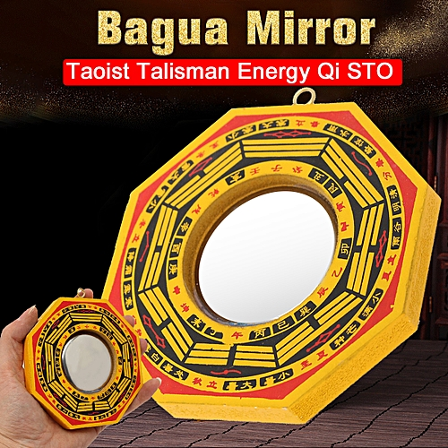 """4"""" Retro Chinese Feng Shui Dent Convex Bagua Mirror Lucky Bless House"""