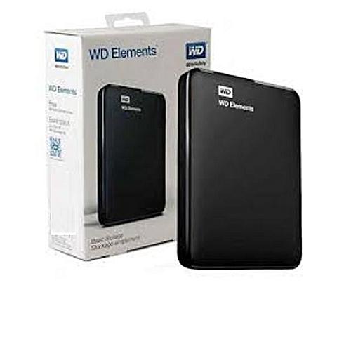 wd 1tb Elements usb 3.0 Portable External Hard Drive -Black