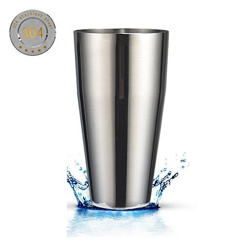 Stainless Steel Boston Shaker, 28oz Professional Bartender Cocktail Shaker, Silver