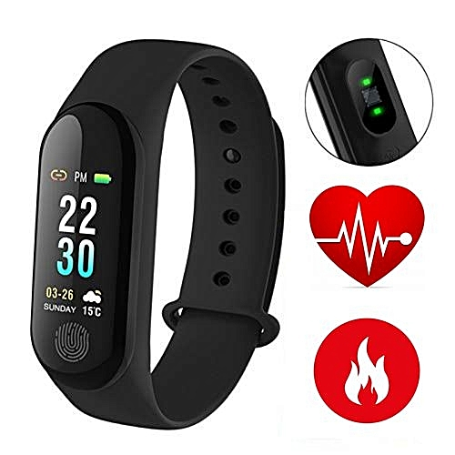 "Health Monitor Smart Band Fitness Activity Tracker Waterproof OLED 0.96"" Color Screen Smart Bracelet Fitness Band Real Time Monitor Your Heart Rate, Blood Pressure, Calorie Counter, Sleep Monitor, Pedometer, GPS, 20-Days Battery Life"