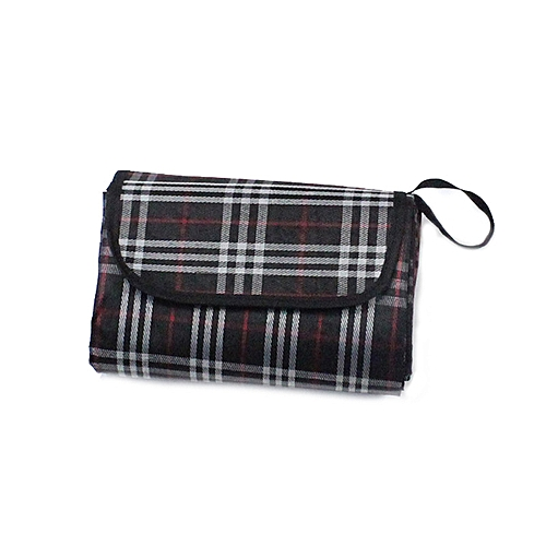 Braveayong Waterproof Outdoor Picnic Blanket Camping Park Moistureproof Mat Plaid BK -Black