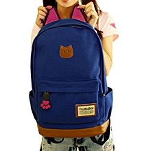 35157e5d4aa2e5 Women Campus Girls Travel Young Men Backpack Bags Sports School Bags NY-  Navy