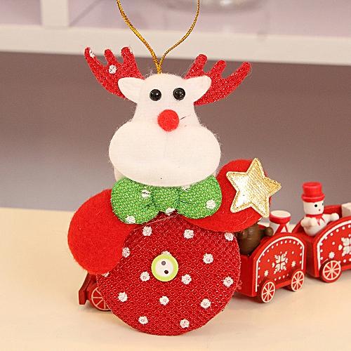 Jummoon Shop Christmas Ornaments Gift Santa Claus Snowman Reindeer Toy Doll Hang Decorations