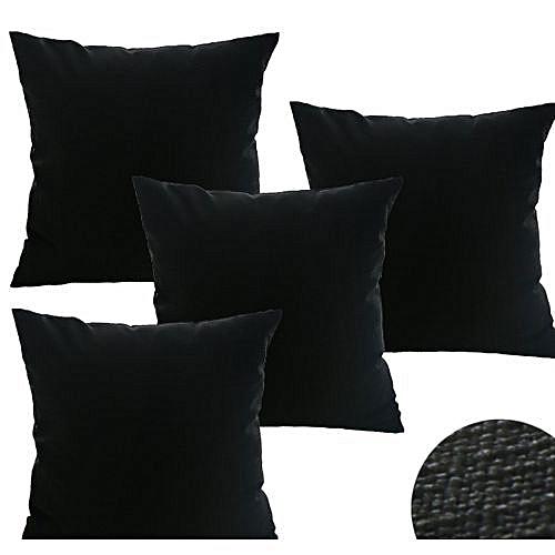 Splash Black Throw Pillow Set(4 Pieces)