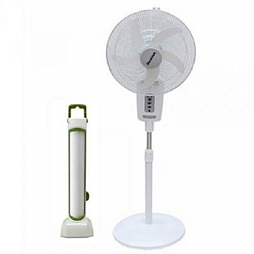 """16"""" Rechargeable Fan With Remote + Rechargeable Latern"""