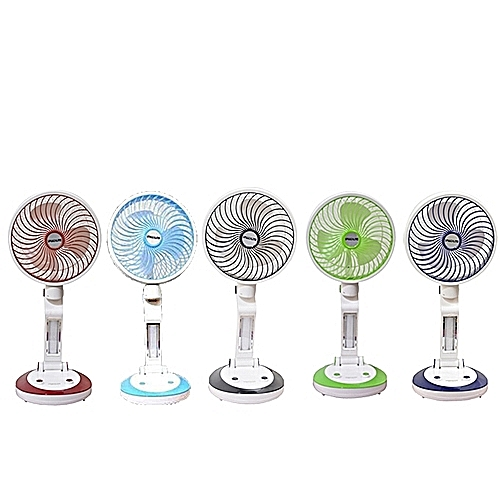 Speedlite Rechargeable Folding Fan With USB And Led Light- Color May Vary