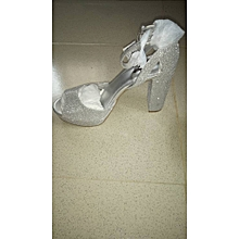 5ba320c14ac6 Women Open Toe Heel Sandals - Silver