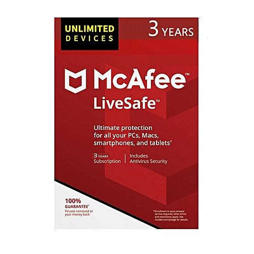 LiveSafe Full Platform 2019 - Unlimited Devices - 3 Years - Download Version
