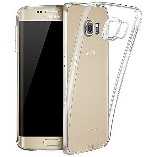 huge discount c3a83 55494 Samsung Galaxy S6 Edge Hybrid Bumper Case Cover (Clear (Anti Scratch))