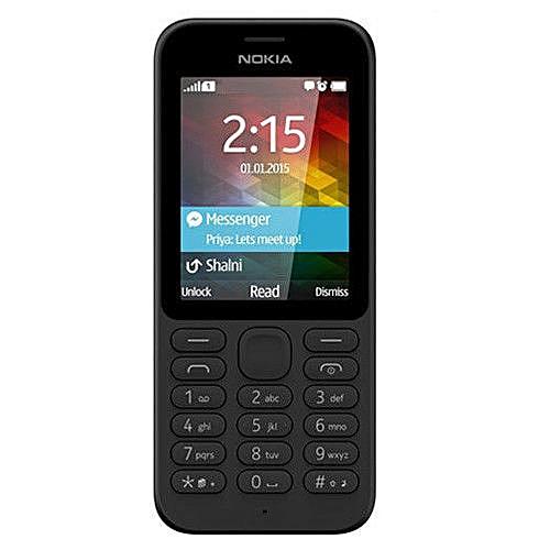 """Generic Nokia 215 2G 2.4"""" Cellphone Bluetooth Dual SIM 0.3MP GSM 900 / 1800 Black"""