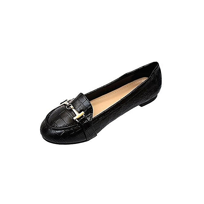 98d280ceae3 Lolo Fashion Ladies Trendy Flat loafers Shoes - Black