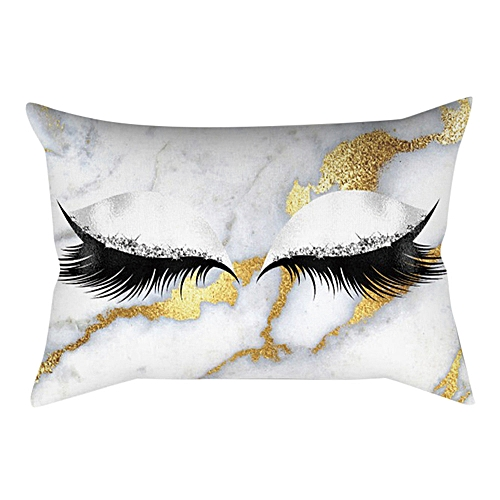 Eyelash Out Soft Velvet Cushion Cover Marble Pillow Cases