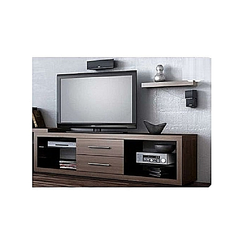 Constantino TV Stand With Center Drawers(ORDER WITHIN LAGOS ONLY) - Brown