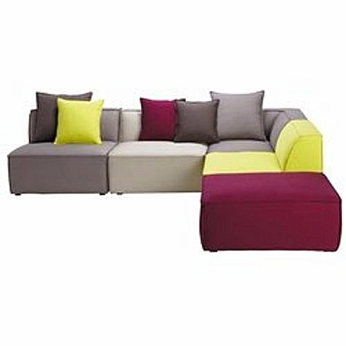 Chily Coloured Seater Set With Free Ottoman
