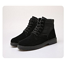 Winter Genuine Suede Leather Business Man Office Work Shoes Male Footwear Top Brand Zipper Retro Ankle Boots Wedding Dress Shoes Men's Shoes