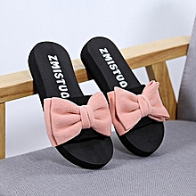 57ab97cc8 Fashion Bow Sandals Slipper Indoor Outdoor Flip-flops Beach Shoes