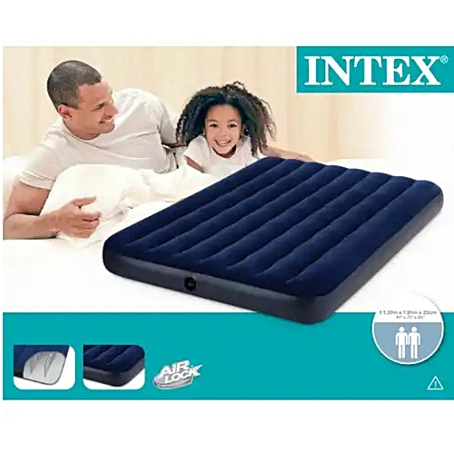 #68758 - INTEX INFLATABLE FULL CLASSIC DOWNY AIR BED 1.37M X 1.91M X22CM