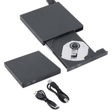 Slim Portable USB 2.0 Ultra External DVD-ROM CD-RW Burner Writer Driver For PC