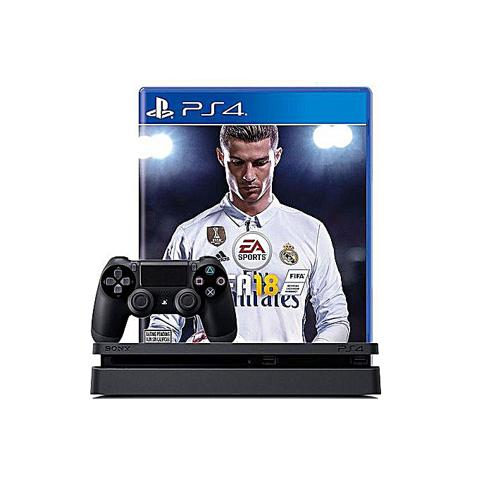 PS4 500GB Slim Console + FIFA 18