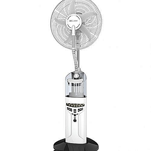 5Blades Rechargeable Mist Fan With LED Light + RemoteControl