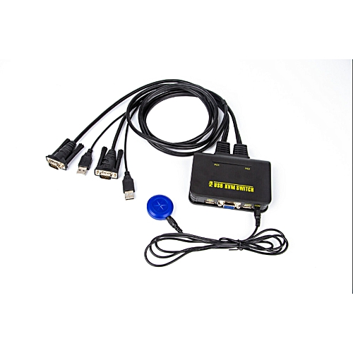 USB KVM Switch 2 Ports 2 In 1 Out Manual Switching