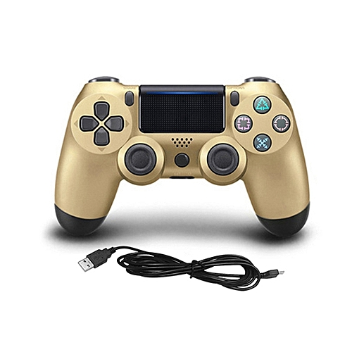 USB Wired Game Controller Gamepad For Sony PS4 Color:Gold