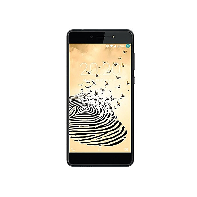 Hot 5 Lite (X559) 5.5-Inch HD (1GB, 16GB ROM) Android 7, 8MP + 5MP Dual SIM 3G Smartphone - Sandstone Black