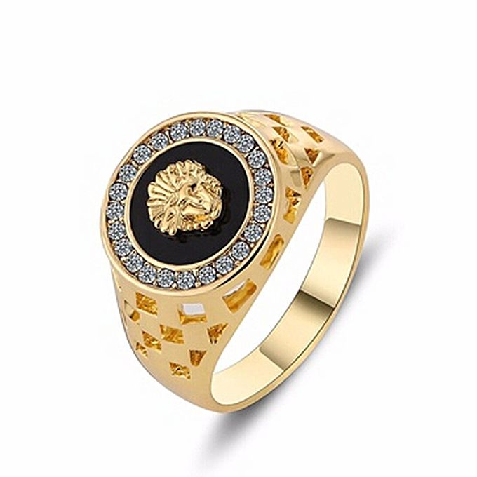 Fashion Vintage Male Lion Head Ring For Men Wedding