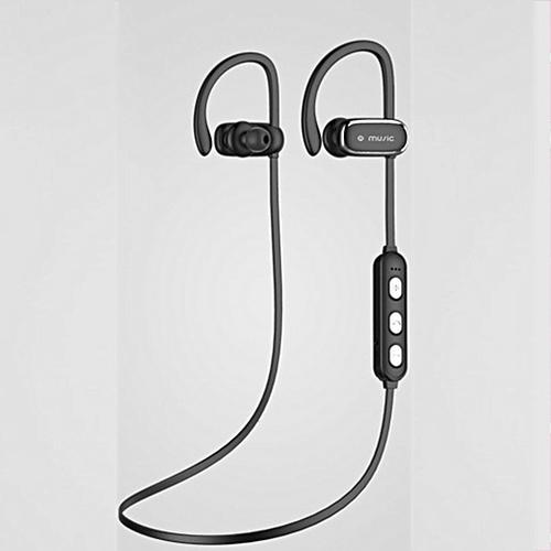 PUBG Stylish Sports Bluetooth Headset High Sound Effect Music Running Earphones-Black