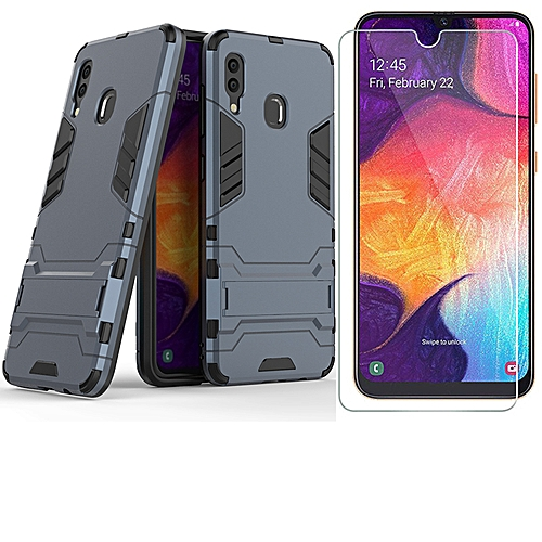 Samsung Galaxy A30 Case With Tempered Glass Screen Protector