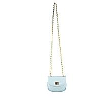 Las Italian Pe Leather Hand Bag Sky Blue