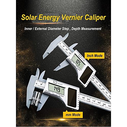 Solar Energy Vernier Caliper Measuring Gauge Tool 0~150mm
